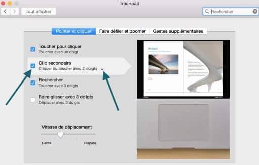 Trackpad activer le clic droit 3