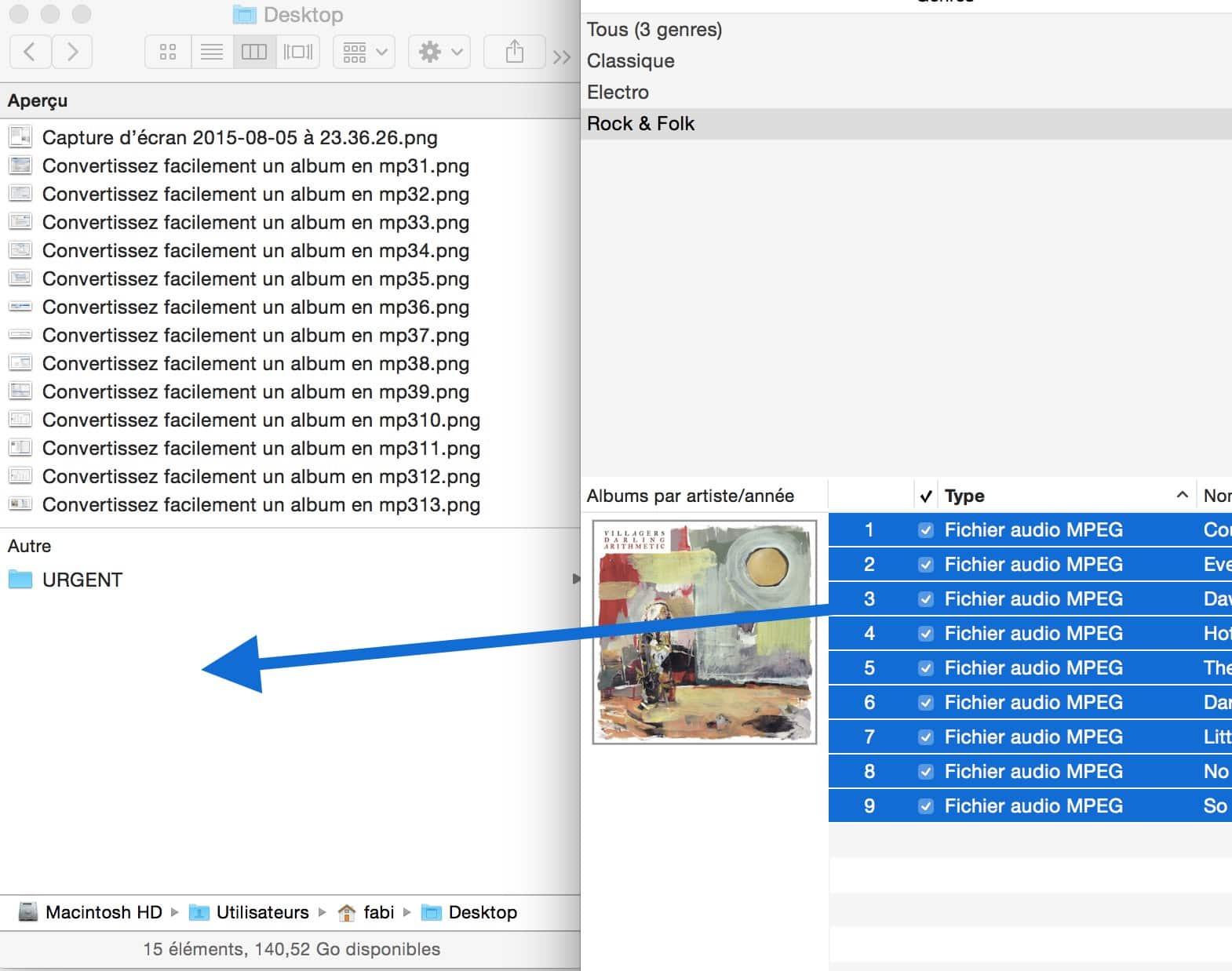 Convertissez facilement un album en mp314