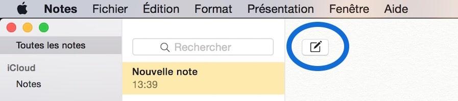 Créer un mémo sur Mac