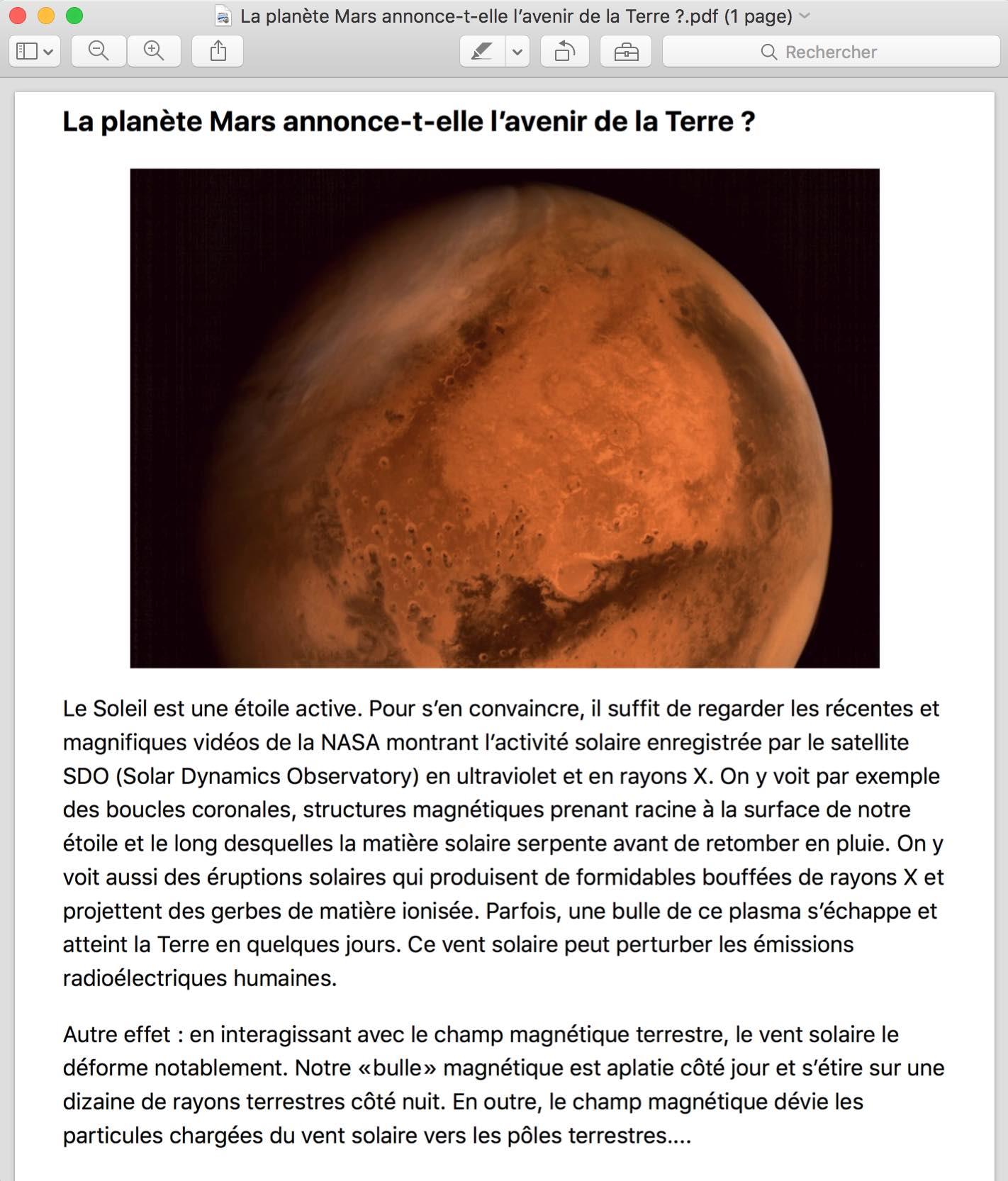 Isoler un article d'une page Internet sur Mac4