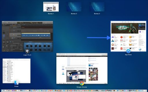 Mission Control visualiser toutes les fenêtres 2