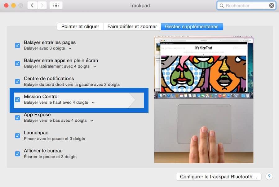 Multi bureau et le mode Plein écran sur Mac4