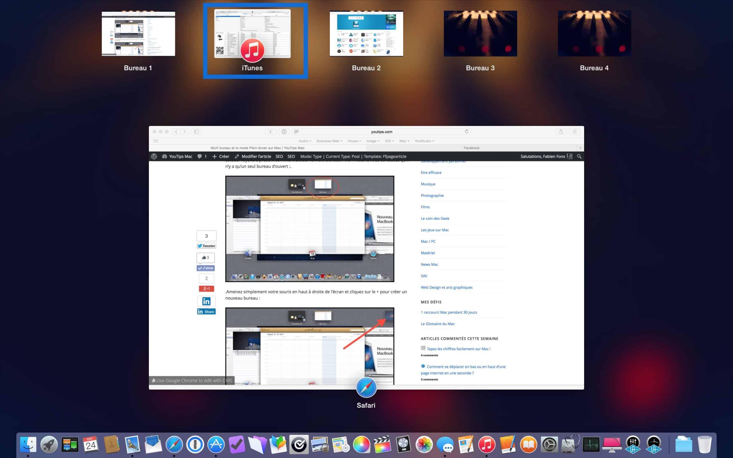 Multi bureau et le mode plein cran sur mac7 for Plein ecran photo mac