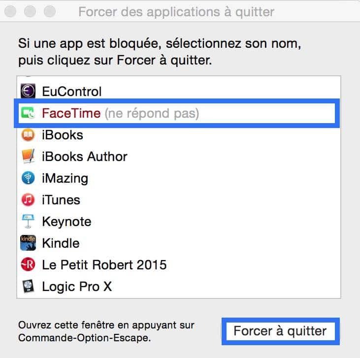Comment Forcer Une Application A Quitter Sur Mac Youtips