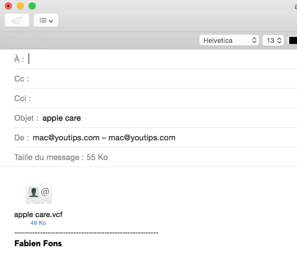 comment envoyer un contact par mail 3