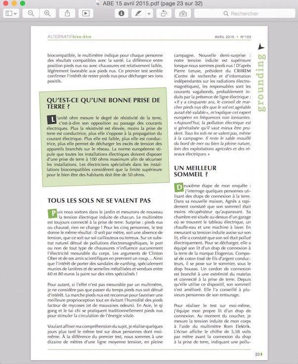 Visionner un pdf avec Aperçu3