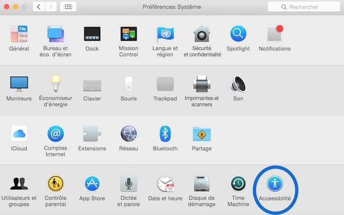 Activer le Zoom sur Mac2