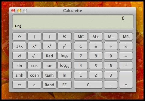 calculette scientifique pour mac