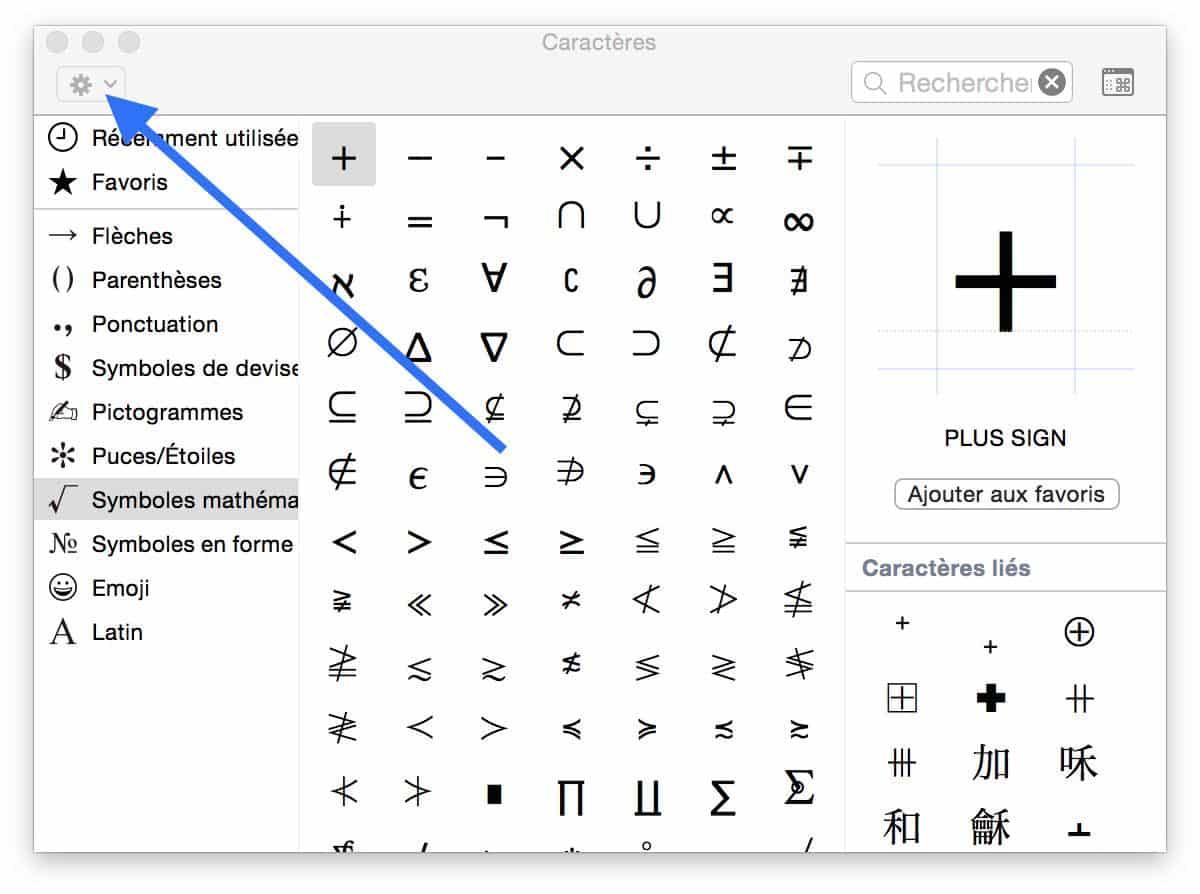 Les caractères spéciaux sur OS X 100002