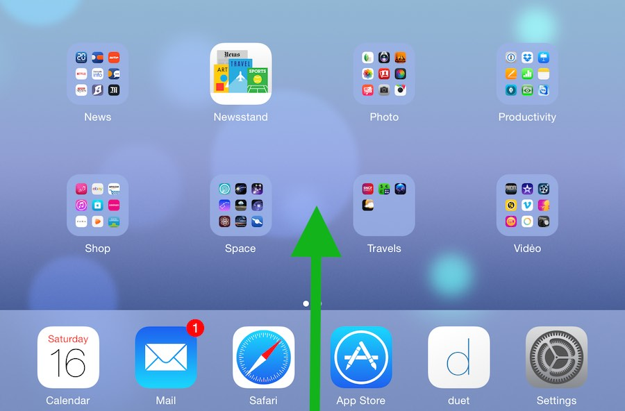 Comment modifier la luminosité de l'écran de l'ipad1