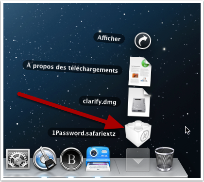 Le fichier qui contient l'extension Safari