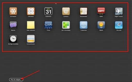 Dashboard MAC OS X 2