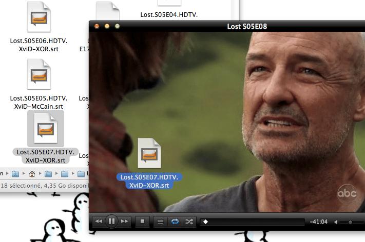 Glisser-déposer un sous-titre dans VLC