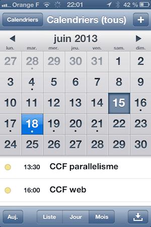 iOS 6 cal