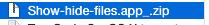 masquer fichiers cachés Mac