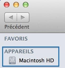 retrouver le macintosh hd sur os x mavericks 1