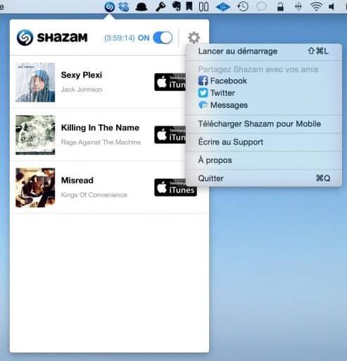 Shazam est disponible sur Mac4