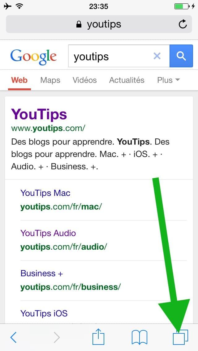 comment faire une recherche internet sur plusieurs pages sur l u2019iphone5