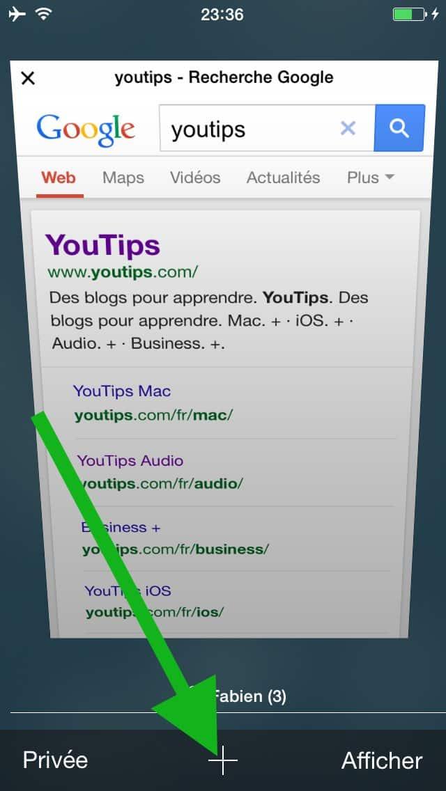 comment faire une recherche internet sur plusieurs pages sur l u2019iphone8