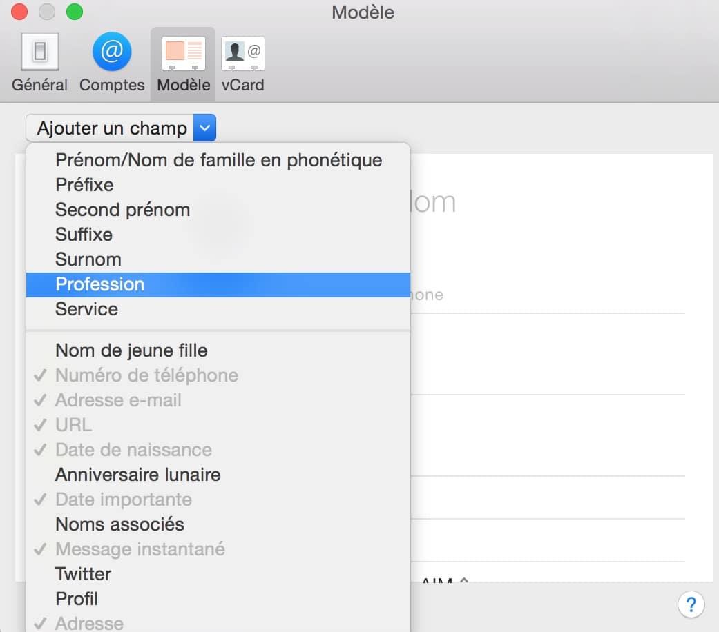 Personnaliser le carnet d'adresse de votre Mac 3