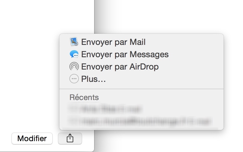Comment envoyer un contact par Mail 2