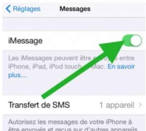 Des problèmes avec iMessage5