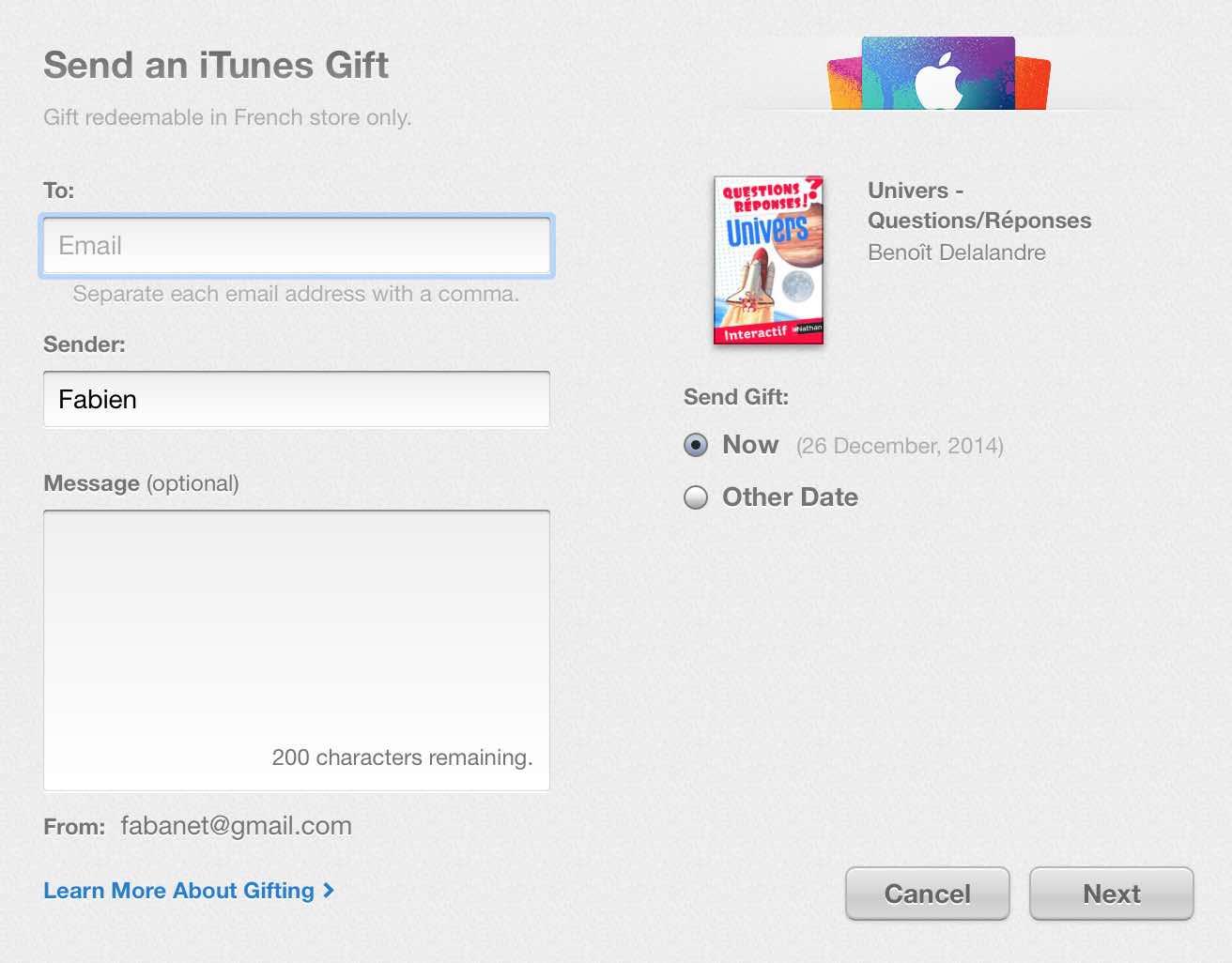 Offrir un cadeau sur iBooks Store9
