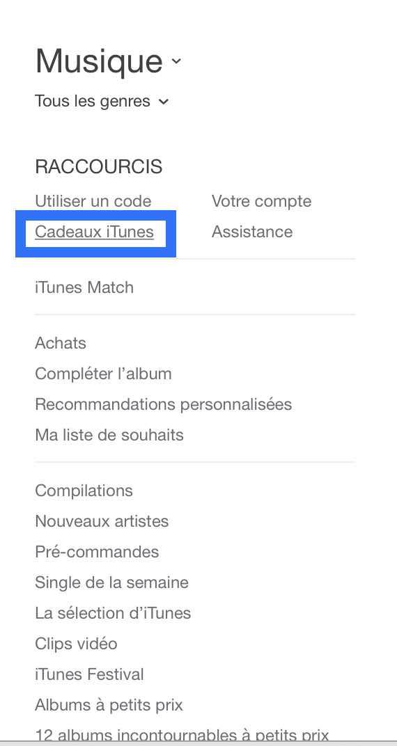 Offrir un cadeau sur iTunes Store 2