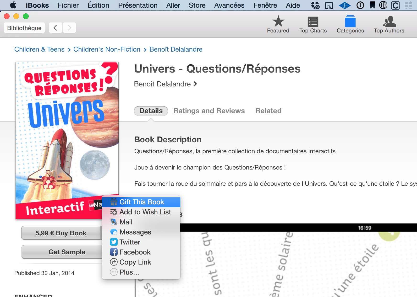 Offrir un cadeau sur iTunes Store 8