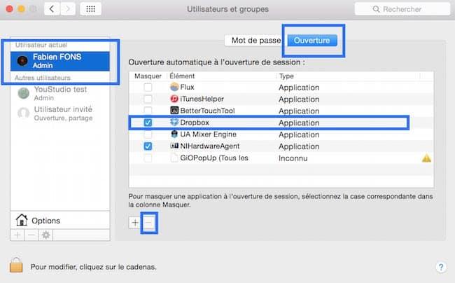 Désactiver un programme au démarrage de votre Mac9