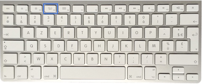clavier Mac Apple touche F3 2