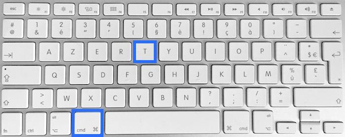 Raccourci clavier pour ouvrir la fenêtre de polices sur Mac