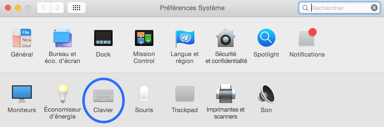 la touche pour verrouiller les majuscule sur Mac1