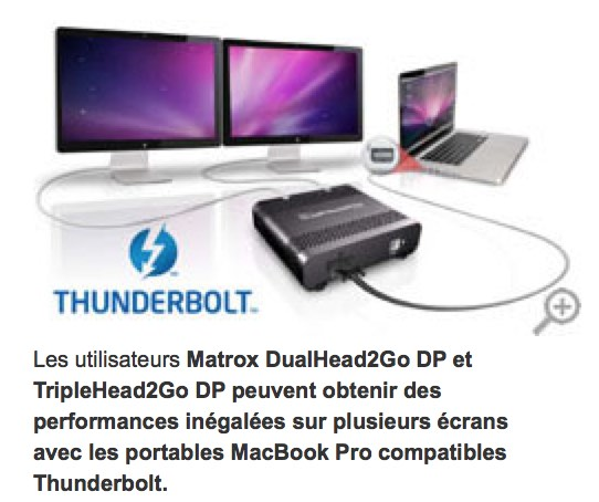 Carte multiscreen thunderbolt matrox