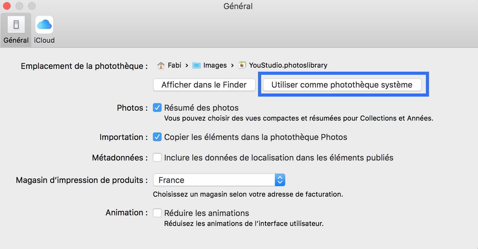 2Rendre votre Photothèque Photos accessible depuis d'autres applications