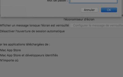 Désactiver le mot de passe du Mac au démarrage
