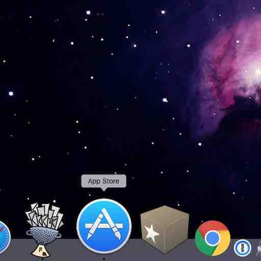 Les piles de dossiers dans le dock du Mac
