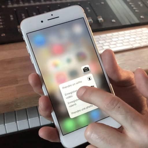 Le ForceTouch sur iPhone