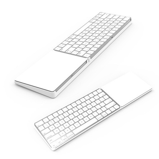 Le Magic Bridge : support très pratique pour rassembler le trackpad Apple et le clavier Bluetooth en un seul tenant